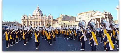 Univ. of Wisconsin Eau Claire Marching Band in Rome